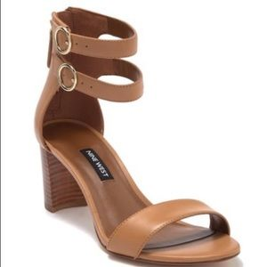 Nine West Leather Block Heel Sandal